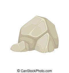 steine, groß, zwei, one., hintergrund., vektor, abbildung, klein, weißes