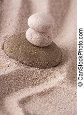 steine, in, sand