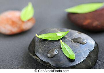 steine, in, wasser