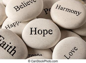 steine, -, inspirational, hoffnung