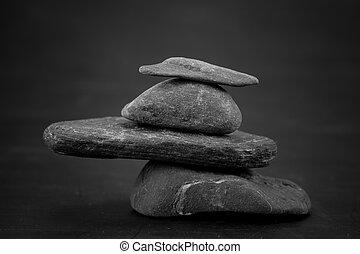 steine, mögen, makro, zen, szene, begriffe
