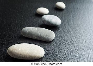 steine, mögen, zen, szene, behandlung, begriffe, spa