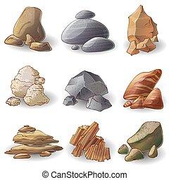 steine, sammlung, steinen