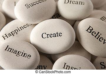 steine, schaffen, -, inspirational