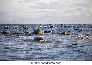 steine, sea.