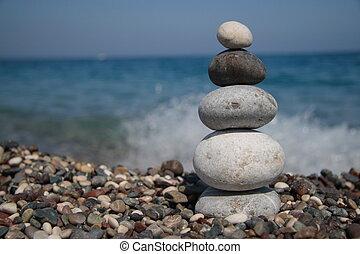 steine, seeküste