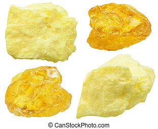 steine, (, sulphur), schwefel, exemplare, gebürtig