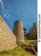 steine, turm, altes , gebaut, mittelalterlich