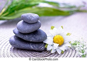 Spa wellness blumen  Steine, wellness/beauty, spa, blumen, darstellen, sorgfalt ...