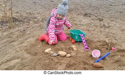 Steine, wenig, Spiele, m�dchen, kueste