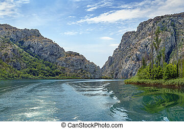 steinen, in, der, nationalpark, krka, kroatien