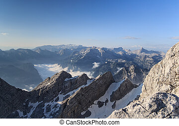 Steinernes Meer and Watzmannkinder - In front the...