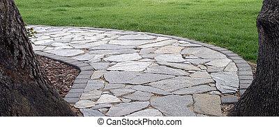 steinigen fußweg