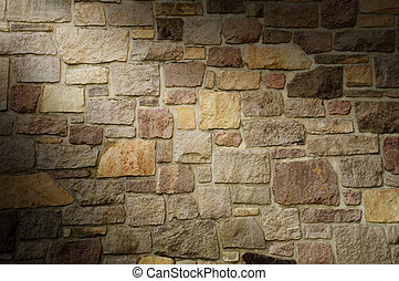 steinmauer, mehrfarbig, lit, diagonal, mauerwerk