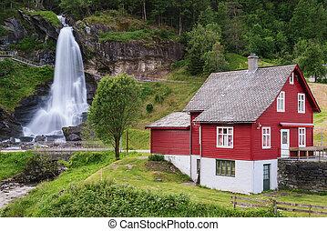 steinsdalsfossen, - , καταρράκτης , μέσα , νορβηγία