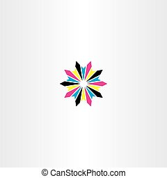 stella, astratto, cmyk, vettore, stampa, logotipo, icona