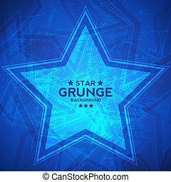stella, astratto, grunge, fondo, textured