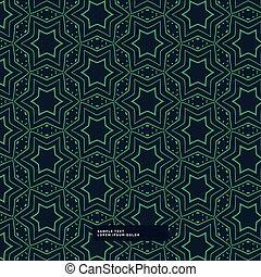 stella blu, modello, forma astratta, sfondo verde