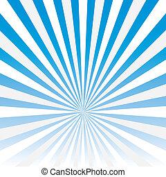 stella blu, scoppio, astratto, vettore, fondo