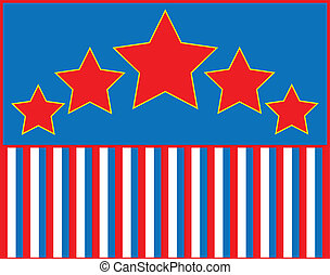 stella blu, str, vettore, eps8, bianco rosso