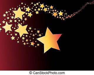 stella cadente, cometa, astratto, luce