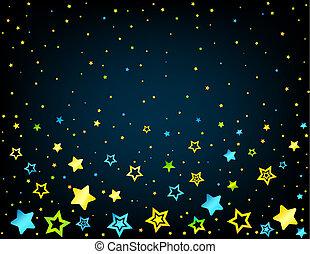 stella, cartone animato, fondo, colorato
