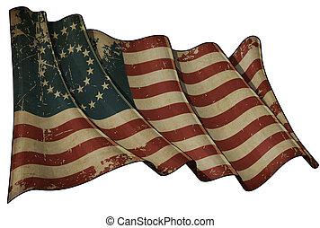 stella, civile, ci, -37, bandiera, storico, medallion-,...
