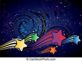 stella, colorito, fondo