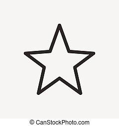 stella, contorno, icona