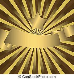 stella, fondo, oro