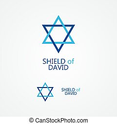 stella, magen david, david), vettore, logotipo, (shield, o