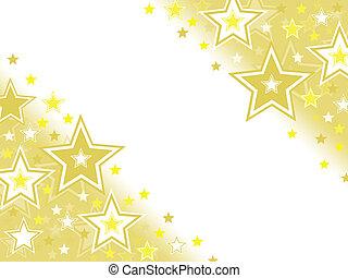 stella, oro, fondo, celebrazione