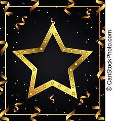 stella, oro, fondo