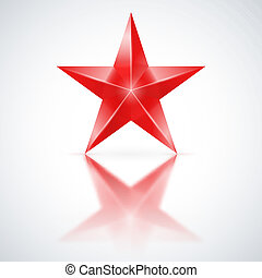 stella rossa, bianco, fondo