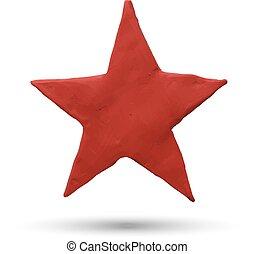 stella rossa, bianco, fondo.
