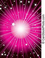 stella shoot red - Futuristic space background design in red...