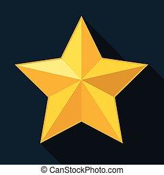 stella, stella oro, giallo, sfondo nero