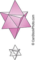 stella, tetrahedron, -, merkaba