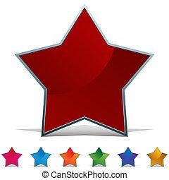 stella, web, bottone