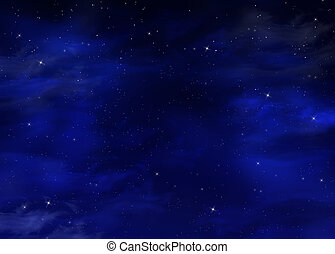 Blu Cielo Stellato Fondo Notte Tailandia