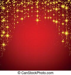 stellato, natale, rosso, fondo.