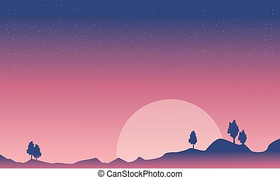 stellato, sfondi, disertare paesaggio