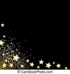 stellato, sfondo nero