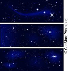 stellato, tranquillo, notte, silenzioso, pacifico