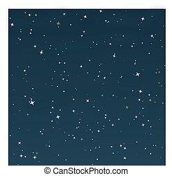stellato, vettore, -, notte