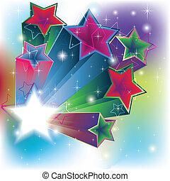 stelle, estrude, per, un, energia, scheda, fondo
