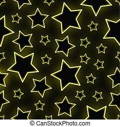 stelle, neon, seamless, fondo