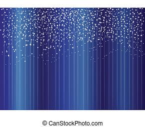 stelle, su, sfondo blu