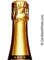 Stem of a Champagne bottle