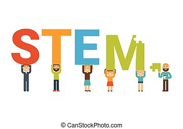 STEM team concept - STEM - science, technology, engineering ...